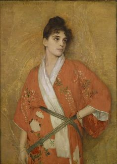 Gustave Courtois. Young Woman in Kimono, 1890.