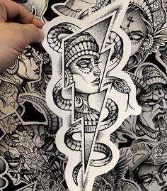 Medusa Tattoo Design, Japan Tattoo Design, Tattoo Design Drawings, Tattoo Sketches, Tattoo Designs, P Tattoo, Dark Tattoo, Copic Marker Drawings, Gangsta Tattoos