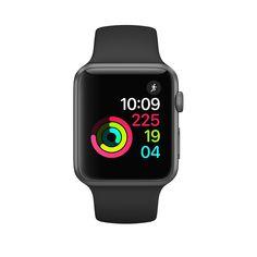 Apple Watch - Pouzdro zvesmírně šedého hliníku – černý sportovní řemínek - Apple (CZ)