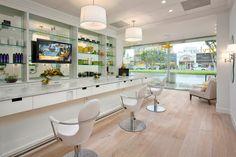 Lacina Heitler Architects #architecture #interior_design #Drybar #salon #retail #yellow #white
