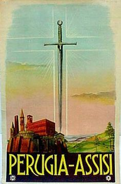 DP Vintage Posters - Perugina-Assisi Italy Original Vintage Travel Poster