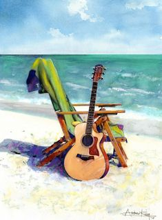 Taylor at the Beach Painting - Taylor at the Beach Fine Art Print