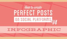 How to Create Perfect Social Media Posts: Infographic ! Social Media Digital Marketing, Social Media Graphics, Social Media Tips, Writing A Book, Writing Tips, Social Platform, Pinterest Marketing, Youtube, Posts