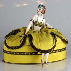 Art Deco Orientalist Nude Arms Away German Half Doll Pin Cushion Candy Container | eBay