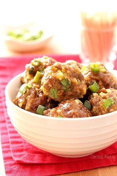 Looking to liven up your ground beef? These Asian meatballs are baked then served in a sweet chili sauce. Serve them for an easy dinner over rice.