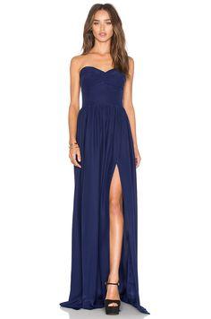 Amanda Uprichard Gisele Maxi Dress in Navy