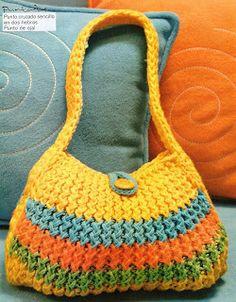 Textiles Cachicadán: Telar Maya - Bolso  Loom Knit Purse