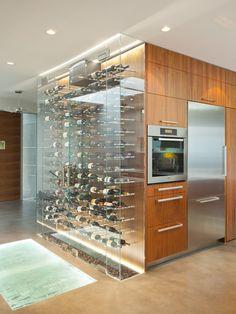 Glass Case Bottle Display Contemporary Kitchen Wine Cellar Custom Design Home Ideas. # I'm in heaven now! Cave A Vin Design, Küchen Design, House Design, Custom Design, Design Ideas, Design Projects, Interior Design, Bar Designs, Luxury Interior