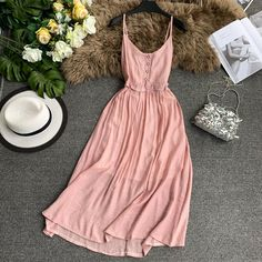 Online Shop Women Sleeveless Solid Color Casual Dress Lady S Pretty Dresses, Sexy Dresses, Beautiful Dresses, Casual Dresses, Fashion Dresses, Spring Outfits, Girl Outfits, Cute Outfits, Sexy Party Dress