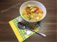 Gemüsesuppe mit Fisch