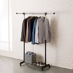 Portable And Expandable Garment Rack In Black Chrome 18 Months Brilliant See More Detail About Extrawide Heavy Duty Garment Rack In Chrome