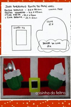 Risultati immagini per jogo americano natal Winter Christmas, Christmas Holidays, Christmas Decorations, Xmas, Christmas Ornaments, Country Christmas, Childrens Christmas, Christmas Sewing, Christmas Placemats