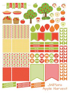 PRINTABLE! Erin Condren Planner Apple Harvest Weekly Kit