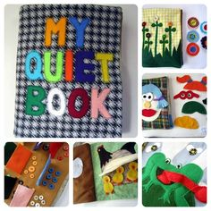 The most ADORABLE collection of Quiet 'Busy' Book pages for children... perfect idea for handmade Christmas gifts!