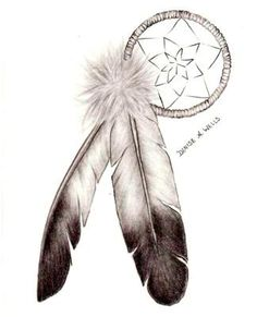 dream catcher tattoo for behind the ear