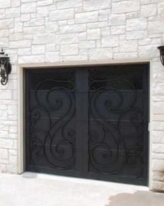 Garage Doors Wind-78 - Wrought Iron Doors, Windows, Gates, & Railings from Cantera Doors