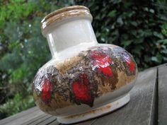 Vintage Fat Lava Vase 1960s VEB Strehla No. 1420 – East (!) German Pottery GDR Modernist von everglaze auf Etsy