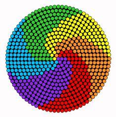 Rainbow Swirl Perler Bead Pattern