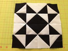 Modern Half Square Triangle Quilt-a-long Block 1