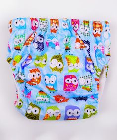 MG Baby Blue Mr. Owl Microfiber Training Pants - Infant by MG Baby #zulily #zulilyfinds