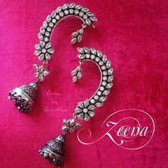 Stunning Zeena from Aaraa by Avantika, studded with crystals, shining its way through. Handcrafted in sterling silver.