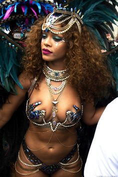 """Rihanna at """"Crop Over"""" in Barbados. (3rd August 2015)"""