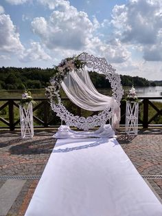 Сircle wedding arch - decoration examples - - in 2019 Outdoor Wedding Decorations, Backdrop Decorations, Arch Decoration, Wedding Backdrops, Wedding Events, Wedding Ceremony, Weddings, Event Planning Tips, Photo Booth Backdrop