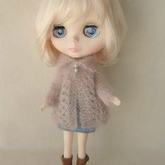 Lacy Kidsilk Jacket for Blythe by myfairdolly on Etsy, $20.00