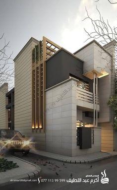 3 Storey House Design, Bungalow House Design, House Front Design, Modern House Design, Facade Design, Exterior Design, Beautiful Modern Homes, Bungalow Exterior, House Elevation