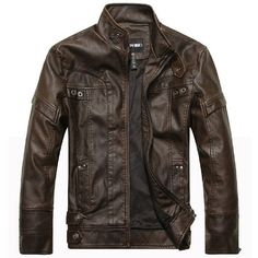 Cheap leather jacket men, Buy Quality jaqueta de directly from China leather jacket Suppliers: Leather Jacket Men Jaqueta De Couro Jaqueta Masculina Chaqueta Hombre Spring Autumn Motorcycle Jackets Casaco Mens Leather Coats, Men's Leather Jacket, Faux Leather Jackets, Pu Leather, Brown Leather, Real Leather, Custom Leather, Suede Jacket, Mens Fur