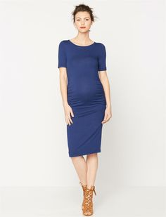 Isabella Oliver Maternity T-shirt Dress- Solid   A Pea in the Pod Maternity