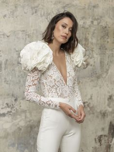 Wham is a luxurious bridal jumpsuit, with a couture feeling. For any daring, edgy bride looking for something unique. Seen at Paris Fashion week. Wedding Dress Trends, Wedding Dresses, Rime Arodaky, Wedding Jumpsuit, Straight Dress, Bride Look, Mermaid Dresses, Tight Dresses, Belted Dress