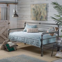 Belham Living Emerson Pipe Daybed - The Belham Living Emerson Pipe Daybed welcomes you to sleep or rest in your bedroom or guest room. Featuring a unique, rustic style with a reclaimed...