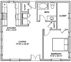 Haus – # – 780 sq ft – Ausgezeichnete Grundrisse - Home design ideas The Plan, How To Plan, Small House Floor Plans, Cabin Floor Plans, Home Design, Tiny House Design, Tiny House Cabin, Tiny House Living, Small Cottages