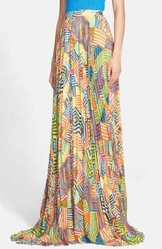 Alice + Olivia 'Shannon' Pleated Maxi Skirt available at #Nordstrom