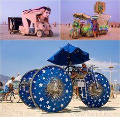 """Le """"Burning Man Festival"""" est plus qu'une grande fête, c'est une expérience temporaire en communauté, dédiée à l'auto-expression radicale. Chaque année, fin août début septembre, dans le désert de Black Rock, à 120 miles au nord de Reno, au Nevada (USA),..."""