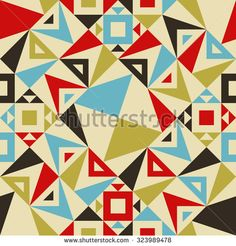 Modern Seamless Triangle Pattern for Textile Design