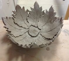Slab Built Pottery Projects | Slab constructed large bowl, still drying.