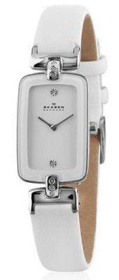 2b3508cdc3867 Relógio Skagen Women s H01SSLW Quartz Stainless Steel White Dial Watch   Skagen Relógio Relógios Femininos