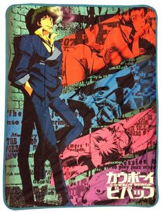 Cowboy Bebop - Spike Sublimation Throw Blanket [PreOrders SoldOUT]