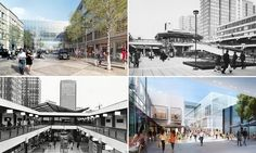 Croydon past and Croydon future: the Whitgift Centre in 1969 and 1970, and the Westfield project which will replace it.