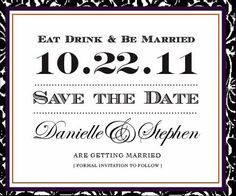 Simple save the date @Carrie Mcknelly Maee
