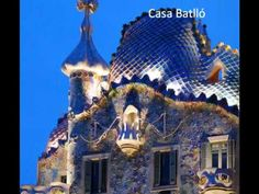 ▶ El Modernismo en Barcelona - YouTube Barcelona, Spanish Architecture, Antoni Gaudi, Beautiful Pictures, Spain, Youtube, Colours, Mansions, House Styles