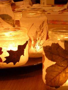 My home made autum leaf light