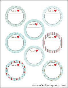 Free Printable Holiday Jar Labels @Pam from Over the Big Moon #printables #holidays