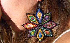 Grande Fleurs Boucles d'oreilles faites main par PapachoCreations