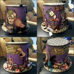 Alice in wonderland. Graphic 45 Mad Hatter hat.
