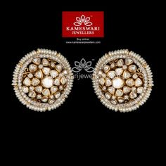 Mesmerizing collection of gold earrings from Kameswari Jewellers. Shop for designer gold earrings, traditional diamond earrings and bridal earrings collections online.