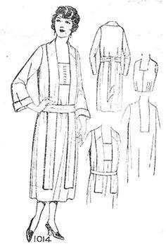 1922 Pictoral Review dress pattern