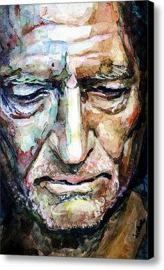 Willie Nelson  Portrait Canvas Print / Canvas Art By Laur Iduc
